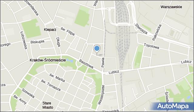 Kraków, Worcella Stanisława, mapa Krakowa