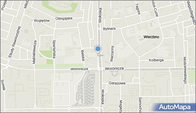 Warszawa, Wołoska, mapa Warszawy