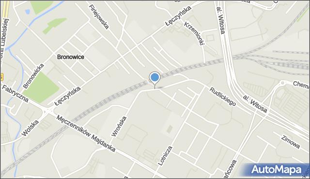 Lublin, Wrońska, mapa Lublina