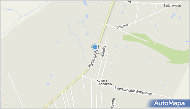 Sochaczew, Wyszogrodzka, mapa Sochaczew