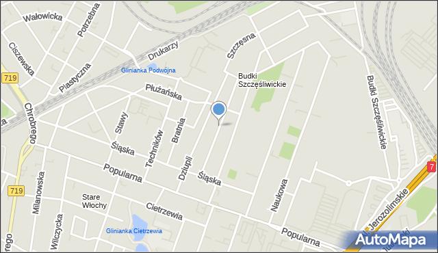 Warszawa, Wyrzyska, mapa Warszawy