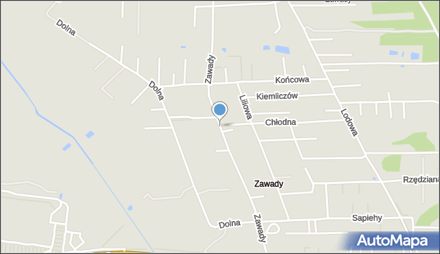 Białystok, Zawady, mapa Białegostoku