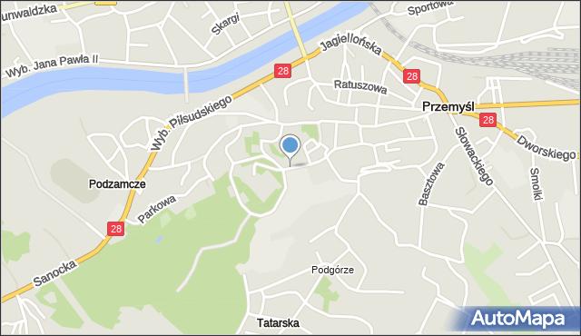 Przemyśl, Zamkowa, mapa Przemyśla