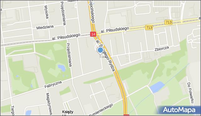 Łódź, Żelazna, mapa Łodzi