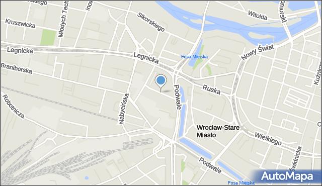 Wrocław, Zelwerowicza Aleksandra, mapa Wrocławia