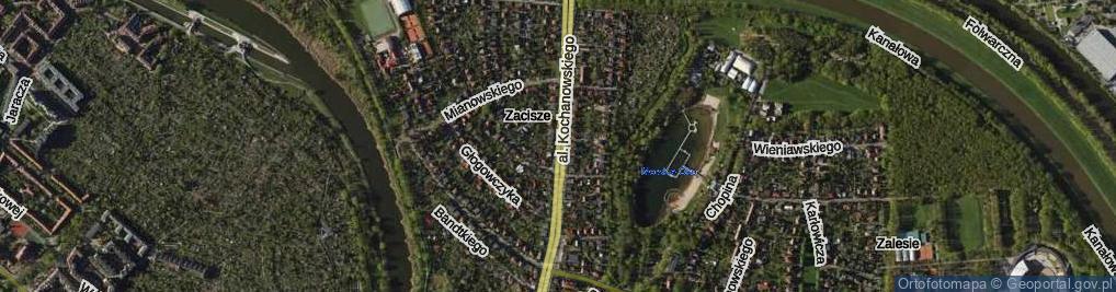 Zdjęcie satelitarne Aleja Kochanowskiego Jana