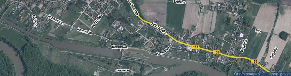 Zdjęcie satelitarne Bażantowa
