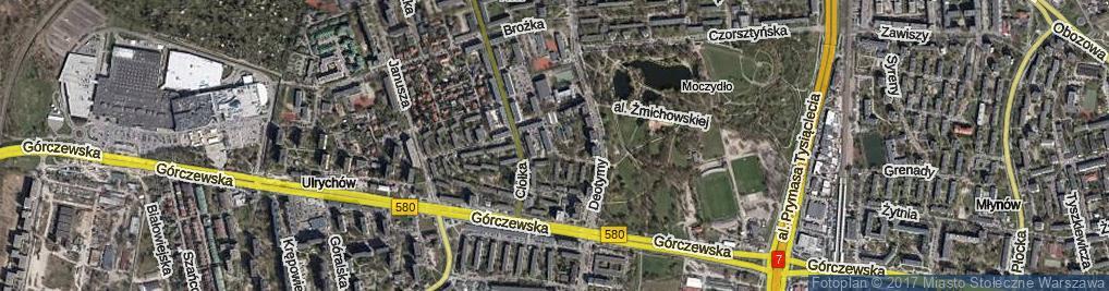 Zdjęcie satelitarne Batalionu AK Pięść ul.