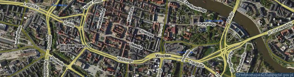 Zdjęcie satelitarne Biskupia ul.