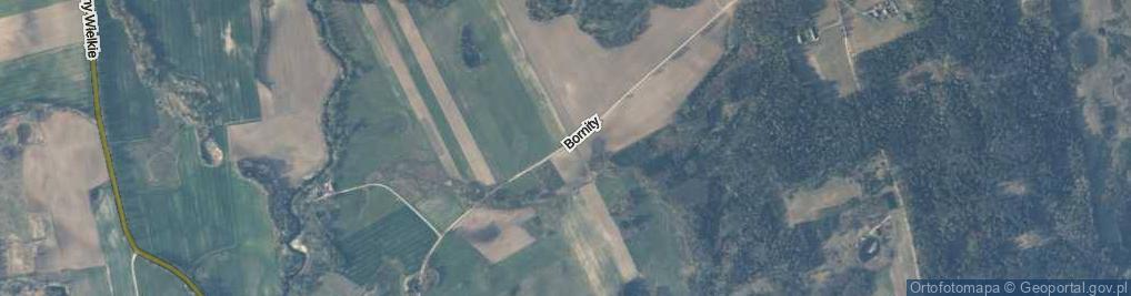 Zdjęcie satelitarne Bornity