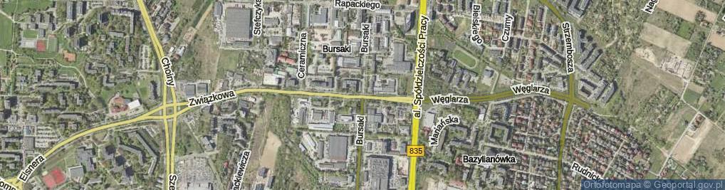 Zdjęcie satelitarne Bursaki
