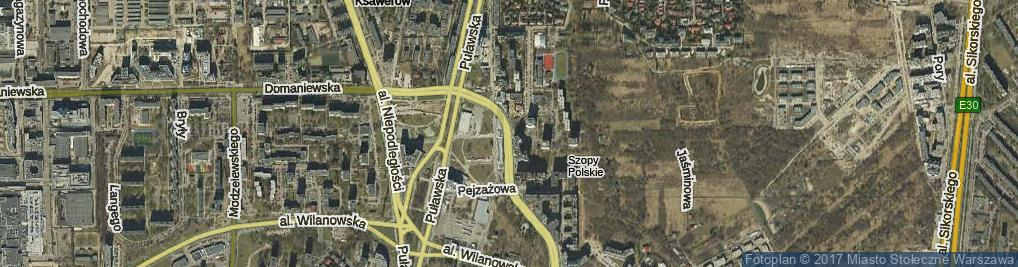 Zdjęcie satelitarne Bukowińska ul.