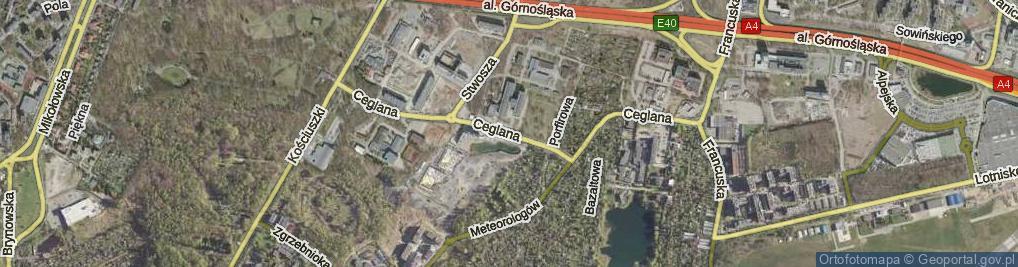 Zdjęcie satelitarne Ceglana