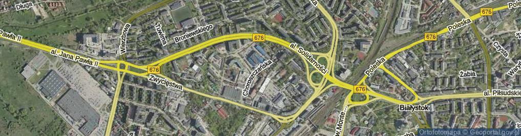Zdjęcie satelitarne Choroszczańska