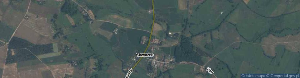 Zdjęcie satelitarne Chwarzno ul.