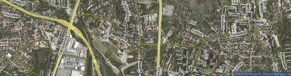 Zdjęcie satelitarne Chochołowska ul.