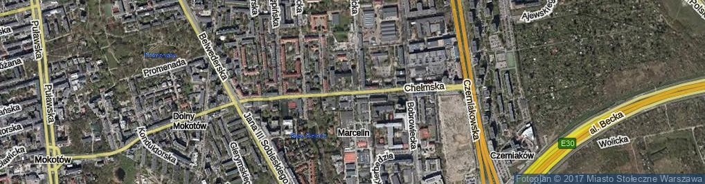 Zdjęcie satelitarne Chełmska