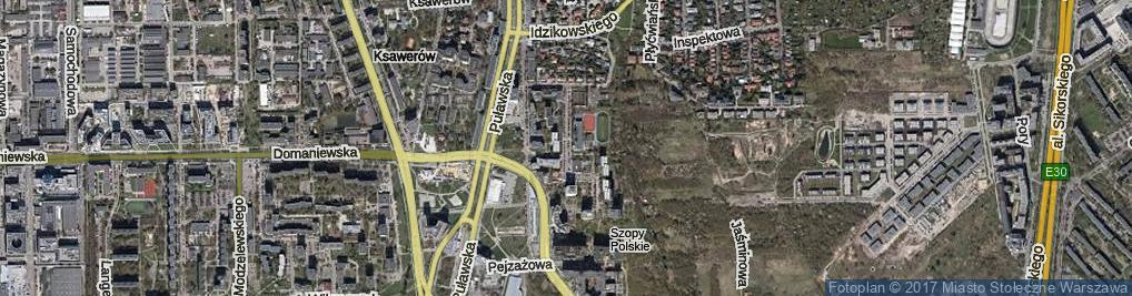 Zdjęcie satelitarne Cieszyńska