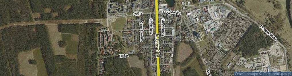 Zdjęcie satelitarne Czarnkowska