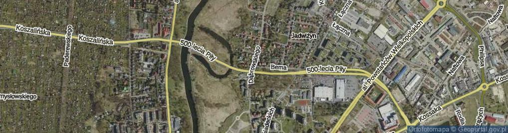 Zdjęcie satelitarne Dąbrowskiego