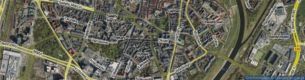 Zdjęcie satelitarne Długa