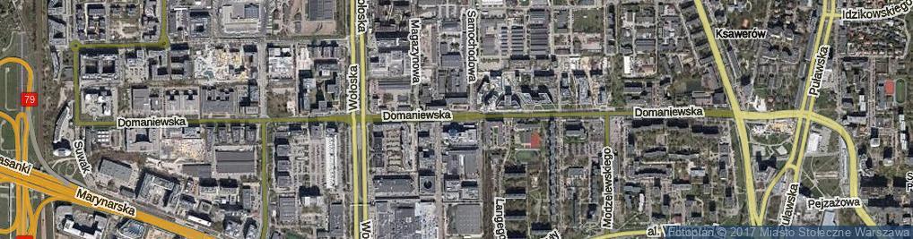 Zdjęcie satelitarne Domaniewska