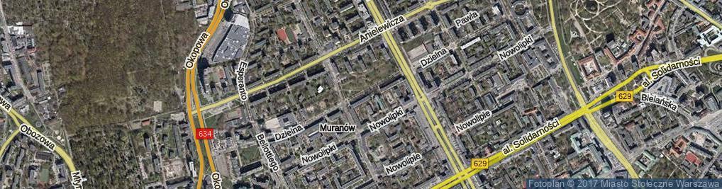 Zdjęcie satelitarne Dzielna