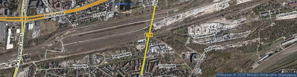 Zdjęcie satelitarne Dźwigowa