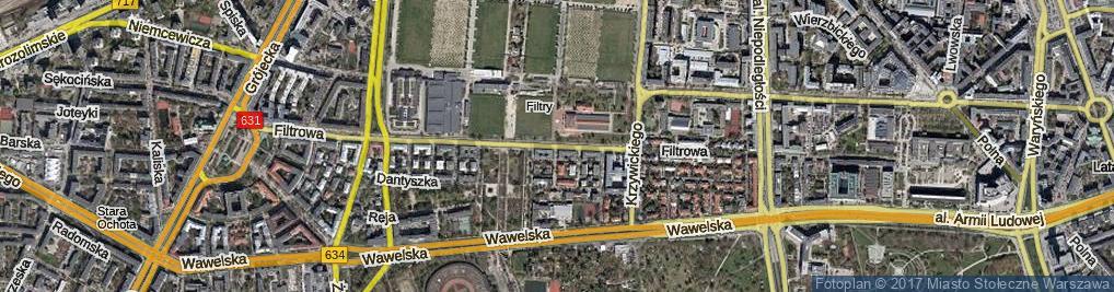 Zdjęcie satelitarne Filtrowa