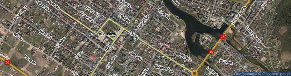 Zdjęcie satelitarne Gęsia