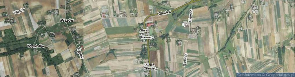 Zdjęcie satelitarne Glewiec ul.