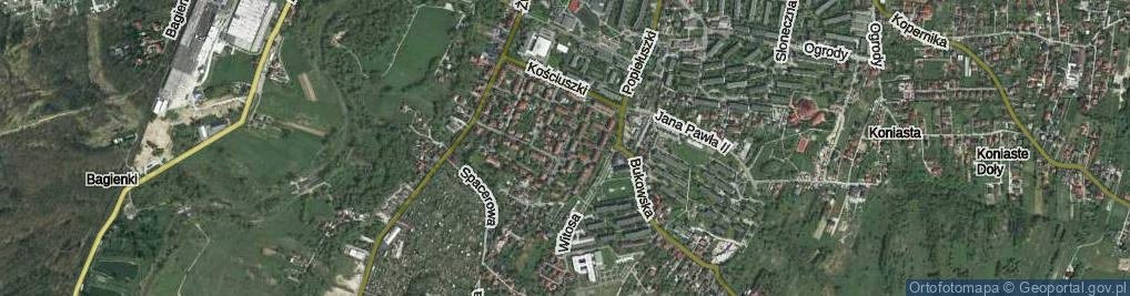 Zdjęcie satelitarne Głowackiego