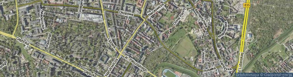 Zdjęcie satelitarne Graniczna