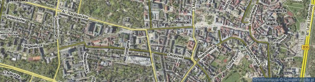 Zdjęcie satelitarne Hipoteczna