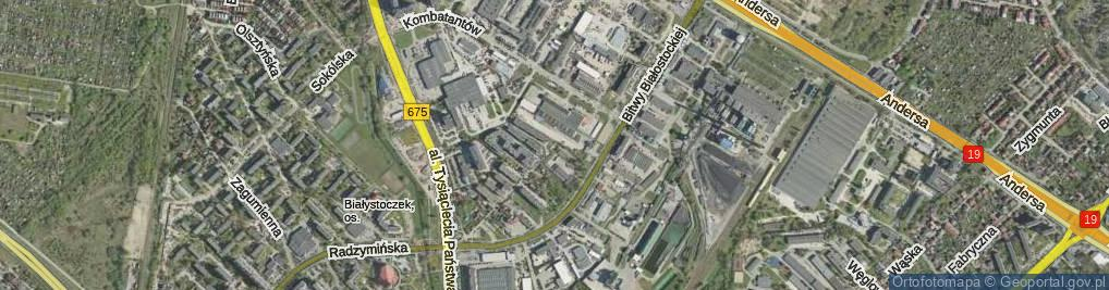 Zdjęcie satelitarne I Armii Wojska Polskiego