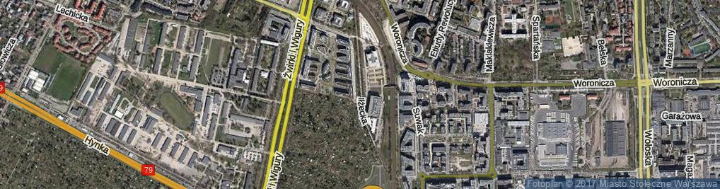 Zdjęcie satelitarne Iłżecka