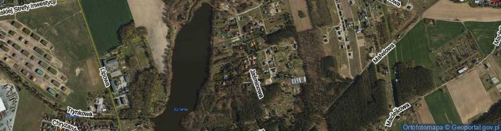 Zdjęcie satelitarne Jaśminowa