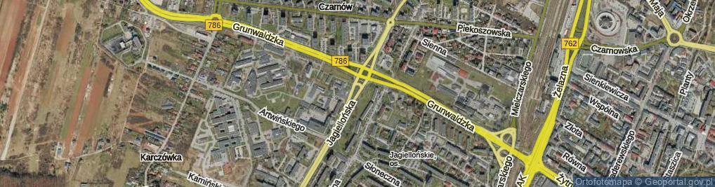 Zdjęcie satelitarne Jagiellońska