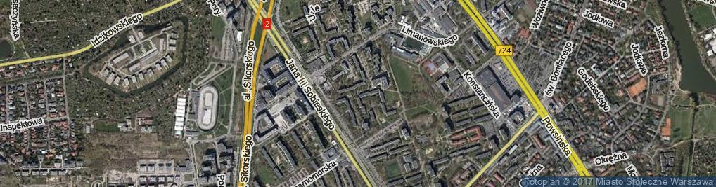 Zdjęcie satelitarne Jaszowiecka