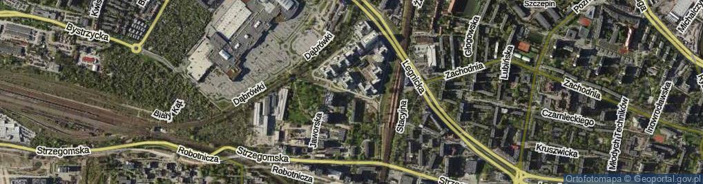 Zdjęcie satelitarne Jaworska ul.