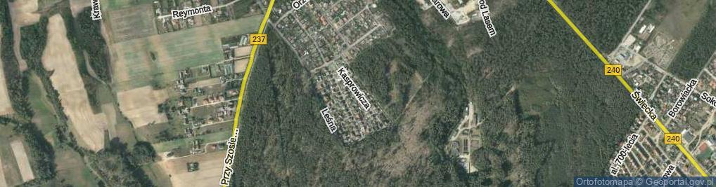 Zdjęcie satelitarne Kasprowicza