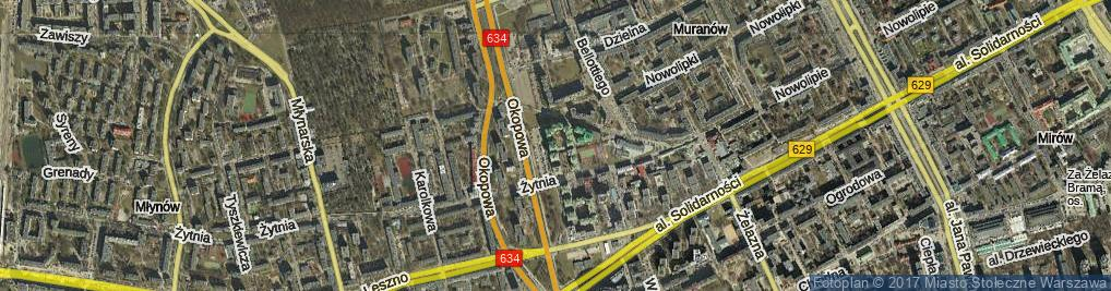 Zdjęcie satelitarne Kacza ul.