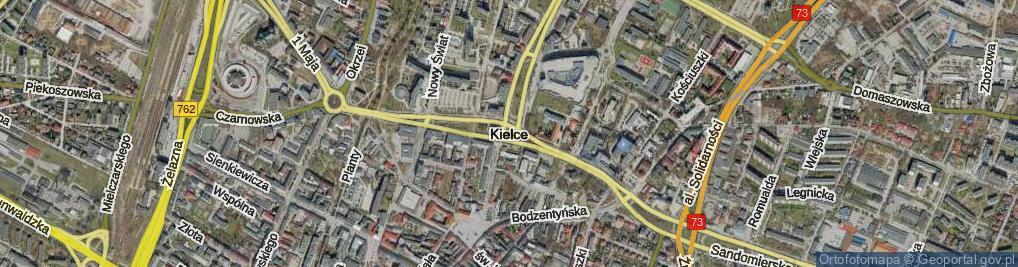 Zdjęcie satelitarne Kielce ul.