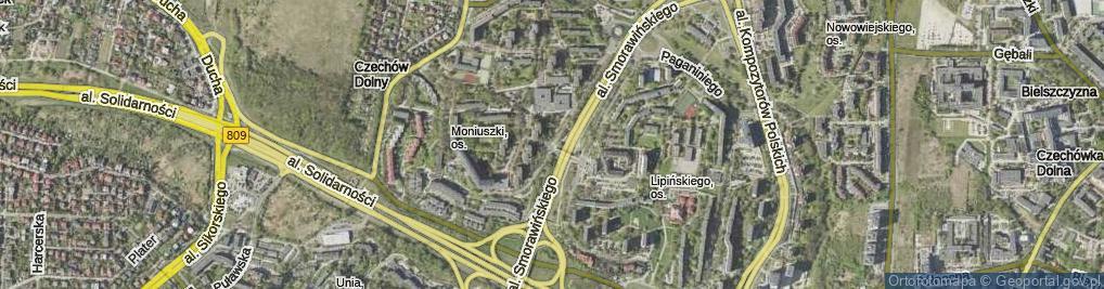 Zdjęcie satelitarne Kiepury Jana