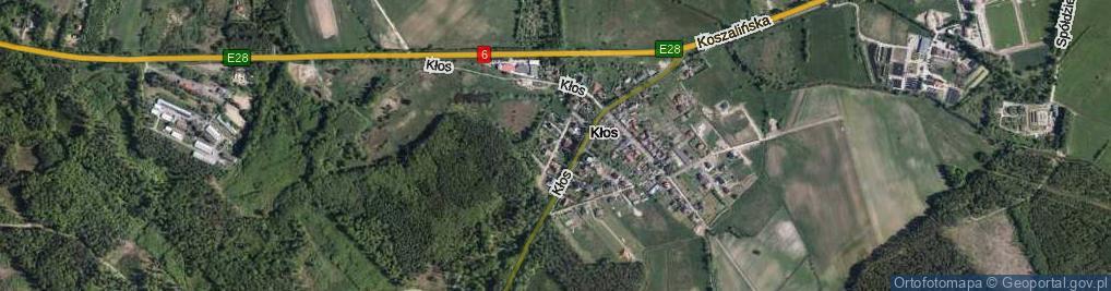 Zdjęcie satelitarne Kłos ul.