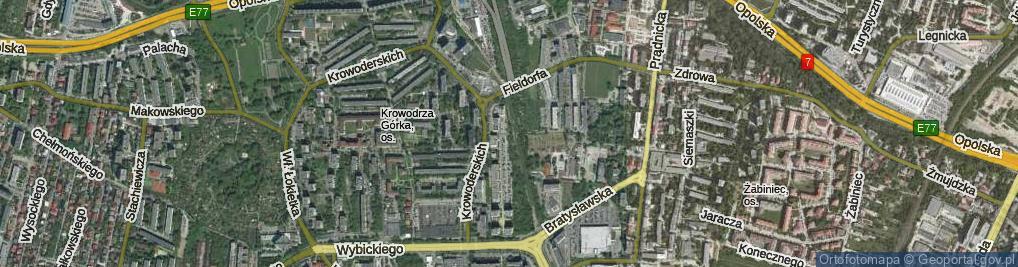 Zdjęcie satelitarne Kluczborska