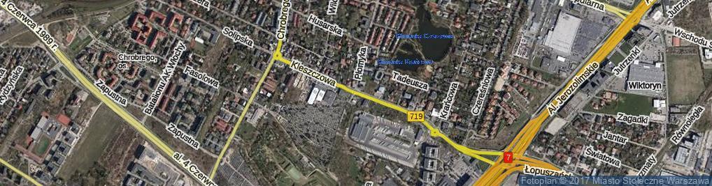 Zdjęcie satelitarne Kleszczowa ul.