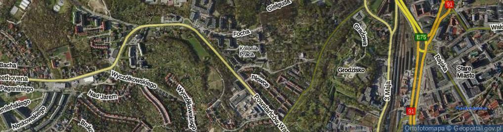 Zdjęcie satelitarne Kozietulskiego Jana