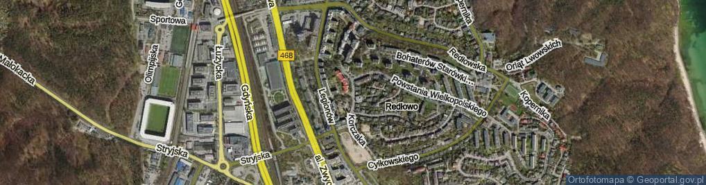 Zdjęcie satelitarne Korczaka Janusza