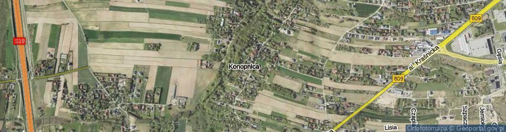 Zdjęcie satelitarne Konopnica